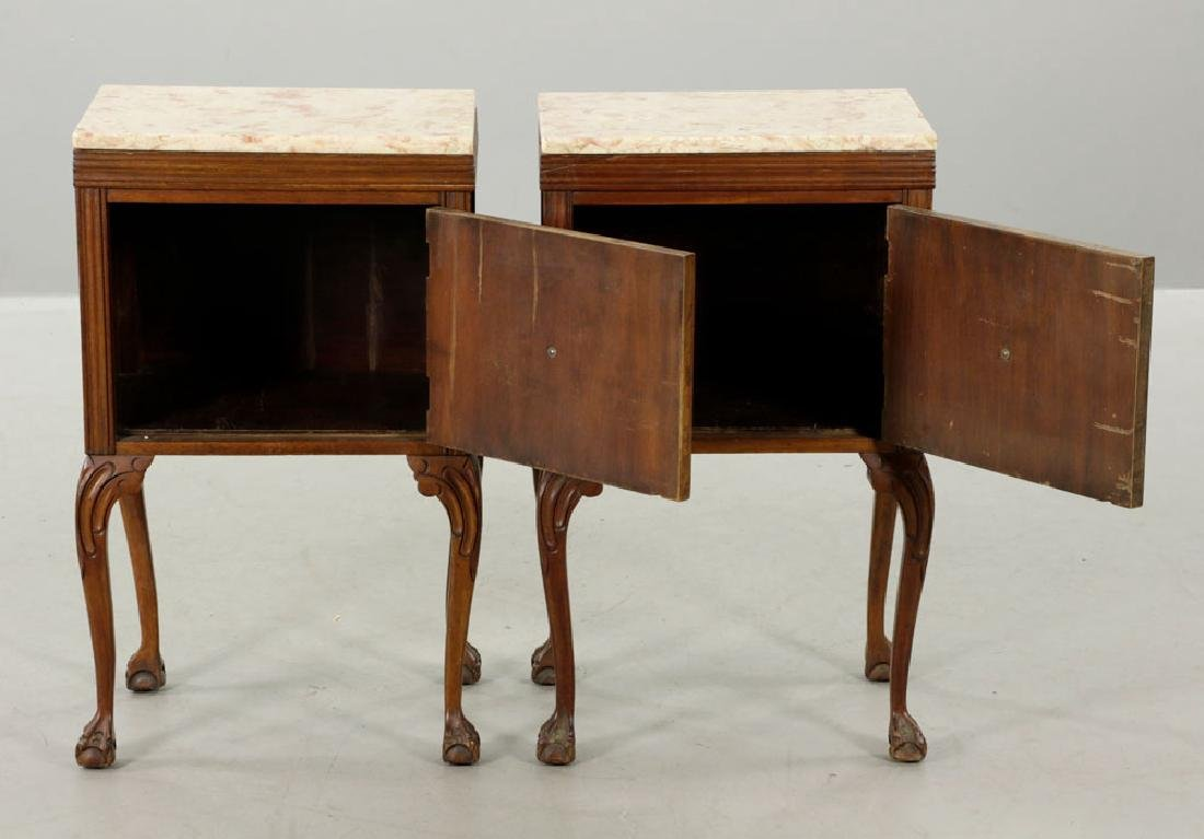 19th/20th C. Pr. of Chippendale Style Marble-top - 2