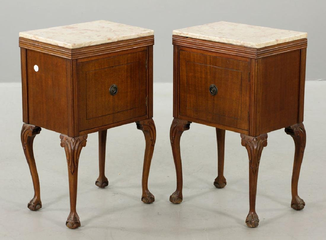 19th/20th C. Pr. of Chippendale Style Marble-top - 3