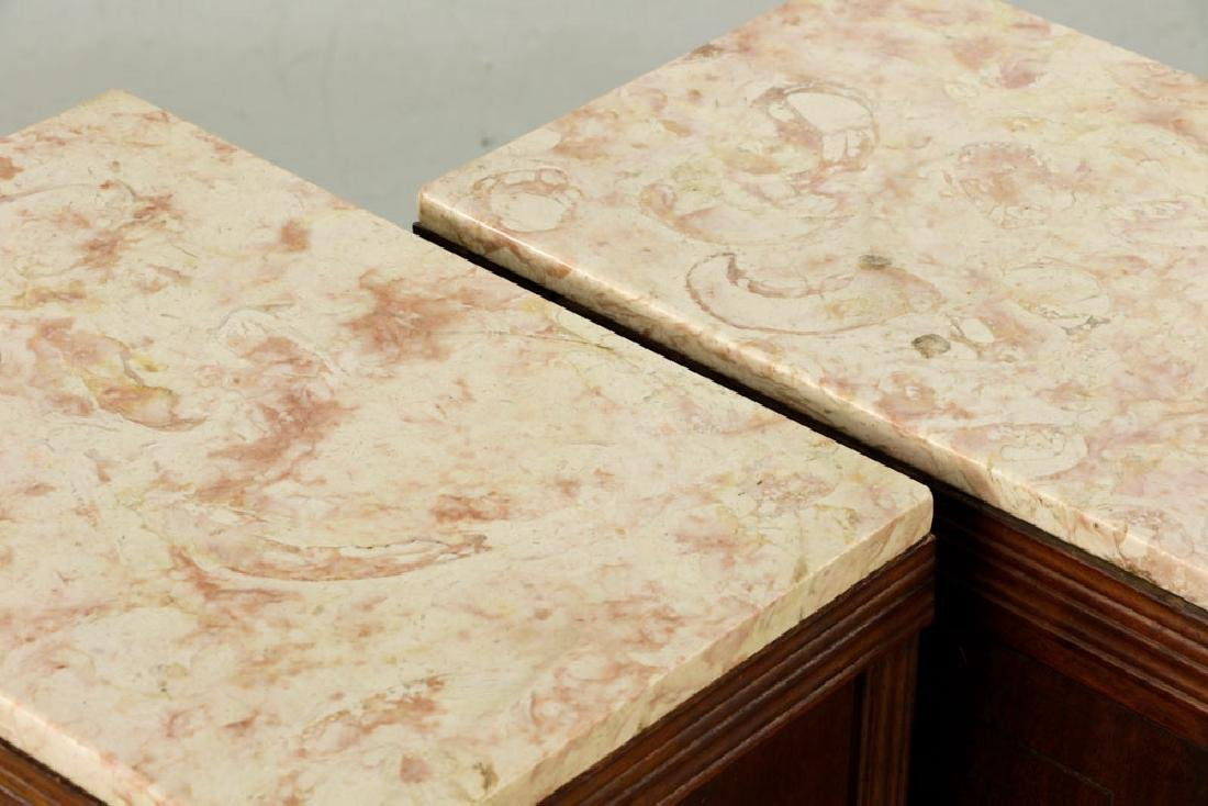 19th/20th C. Pr. of Chippendale Style Marble-top - 5