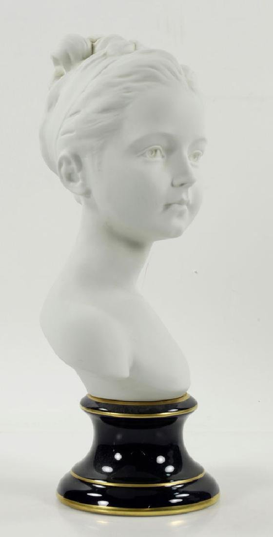 Pair of French Limoges Porcelain Busts - 3
