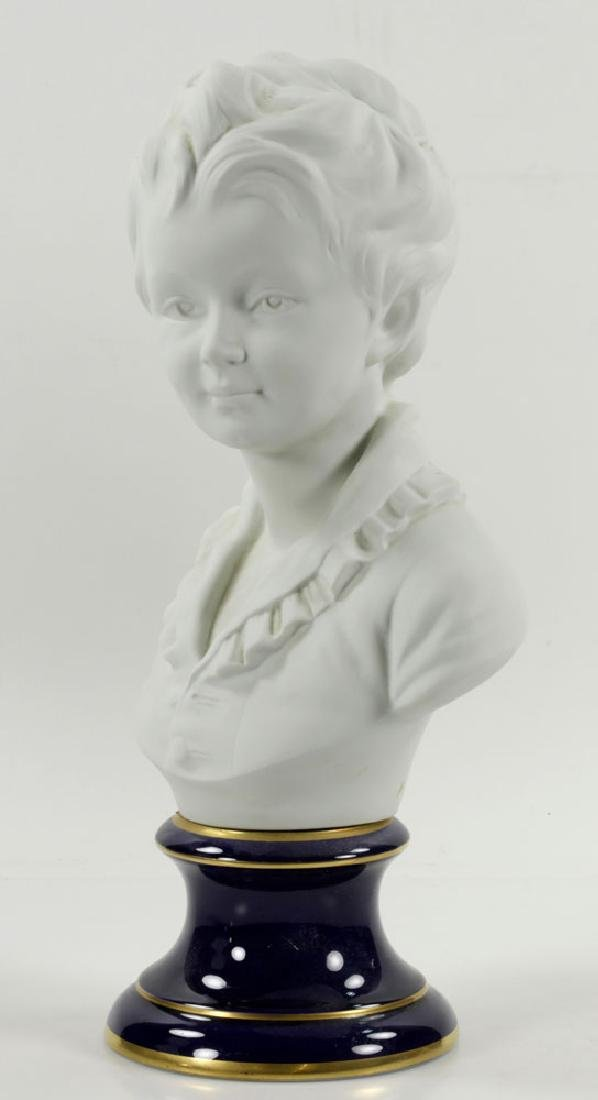 Pair of French Limoges Porcelain Busts - 4