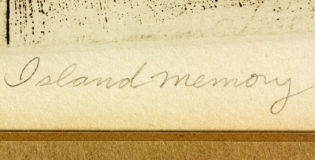 "Bumbeck, ""Island Memory,"" Etching - 3"