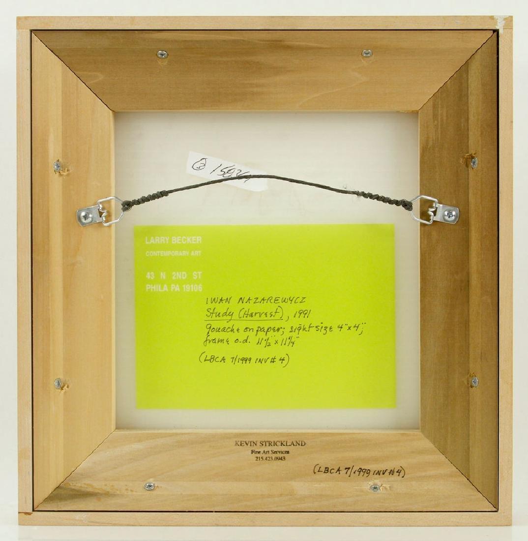 Nazarewycz, Three Abstract Gouache on Paper Works - 2