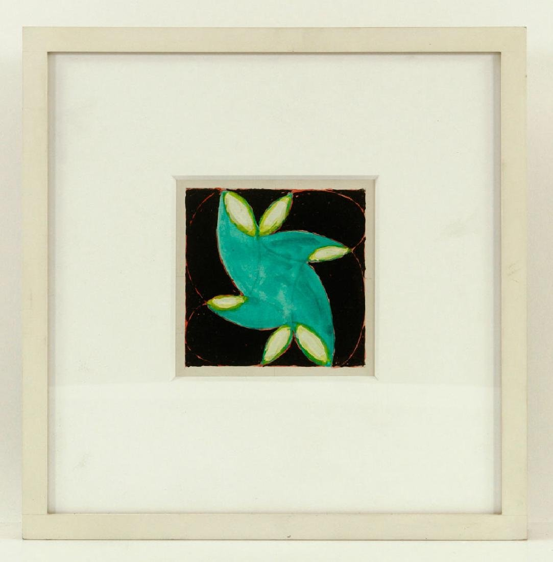 Nazarewycz, Three Abstract Gouache on Paper Works - 3