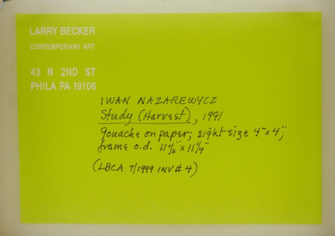Nazarewycz, Three Abstract Gouache on Paper Works - 5