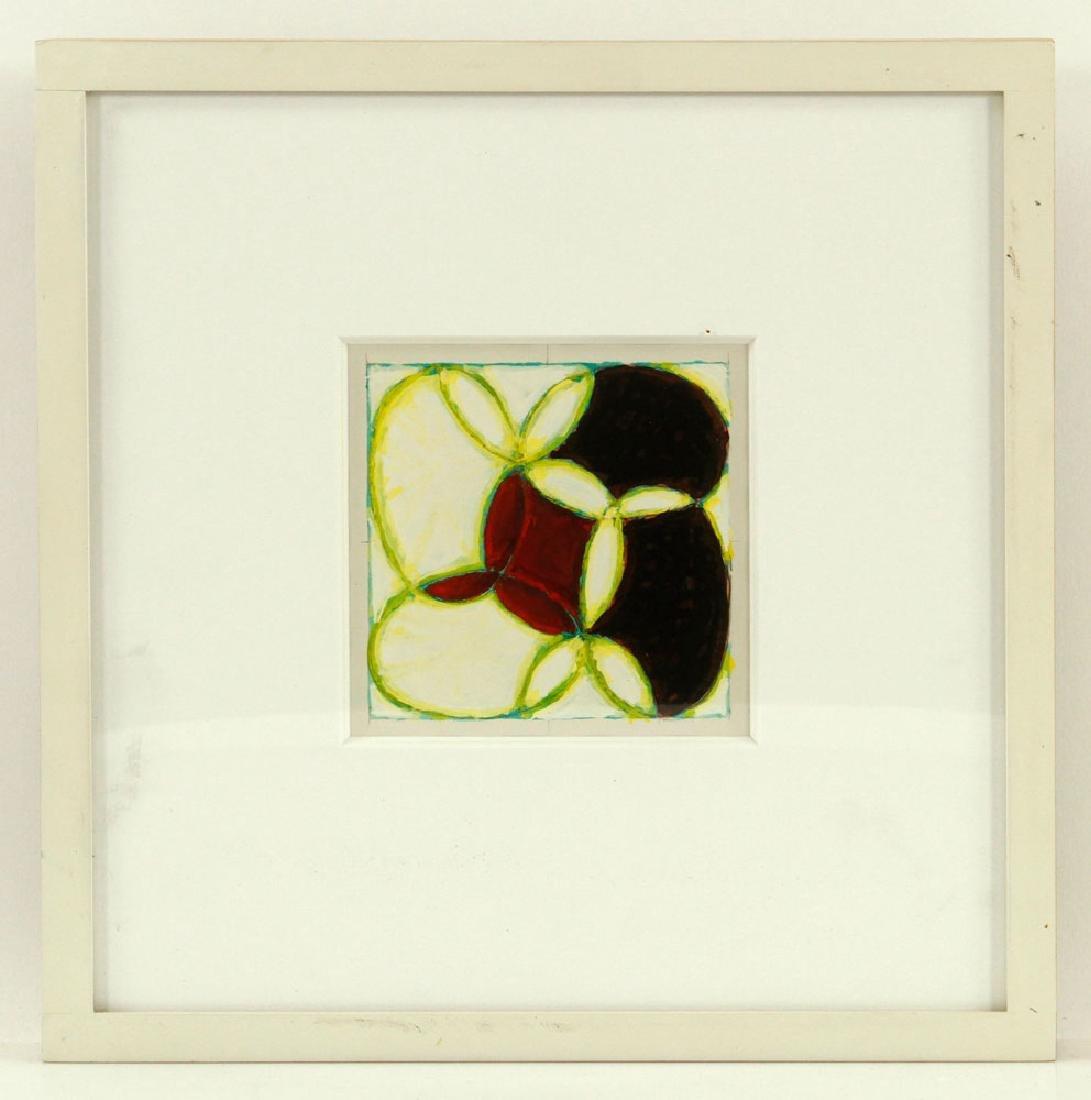 Nazarewycz, Three Abstract Gouache on Paper Works - 6