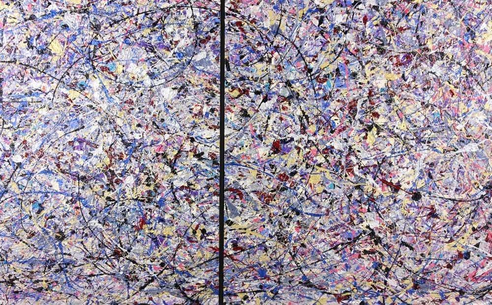 Rita Cohen, Abstract Acrylic on Canvas - 2