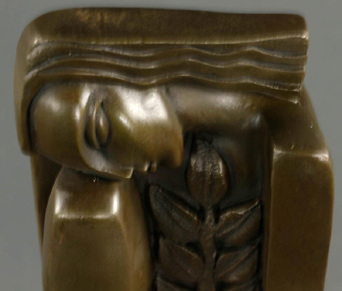 In Manner of Dali, Lady with Flower, Bronze - 2
