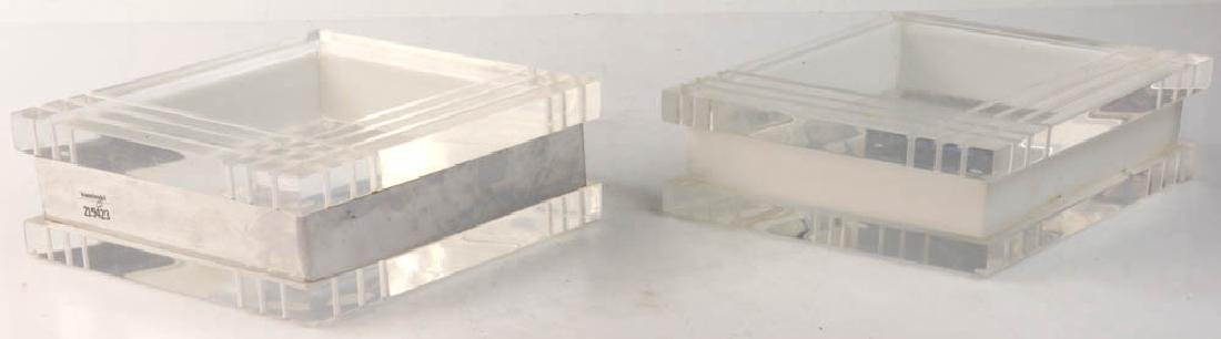 Lucite Boxes, Hand Crafted by George Bullio