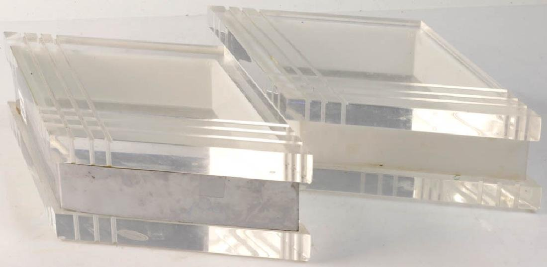 Lucite Boxes, Hand Crafted by George Bullio - 2