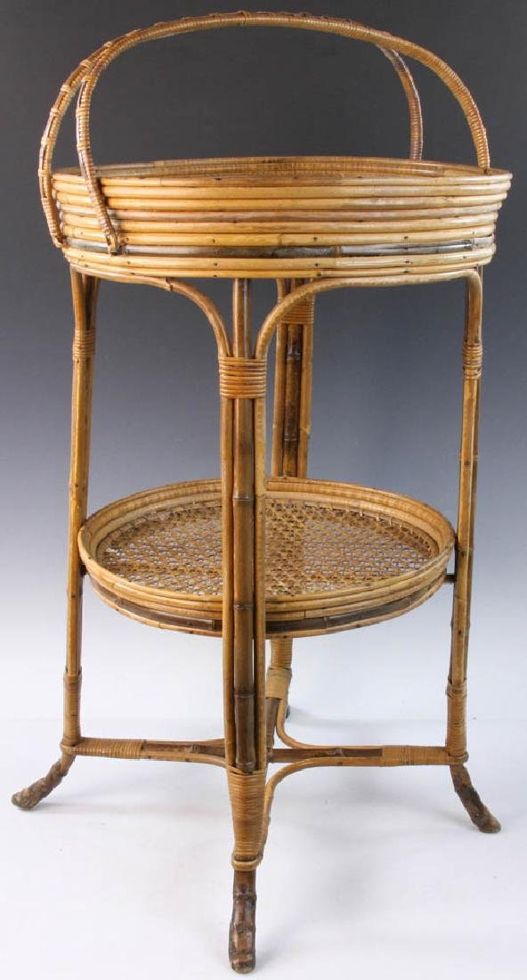 French Wicker Circular Stand