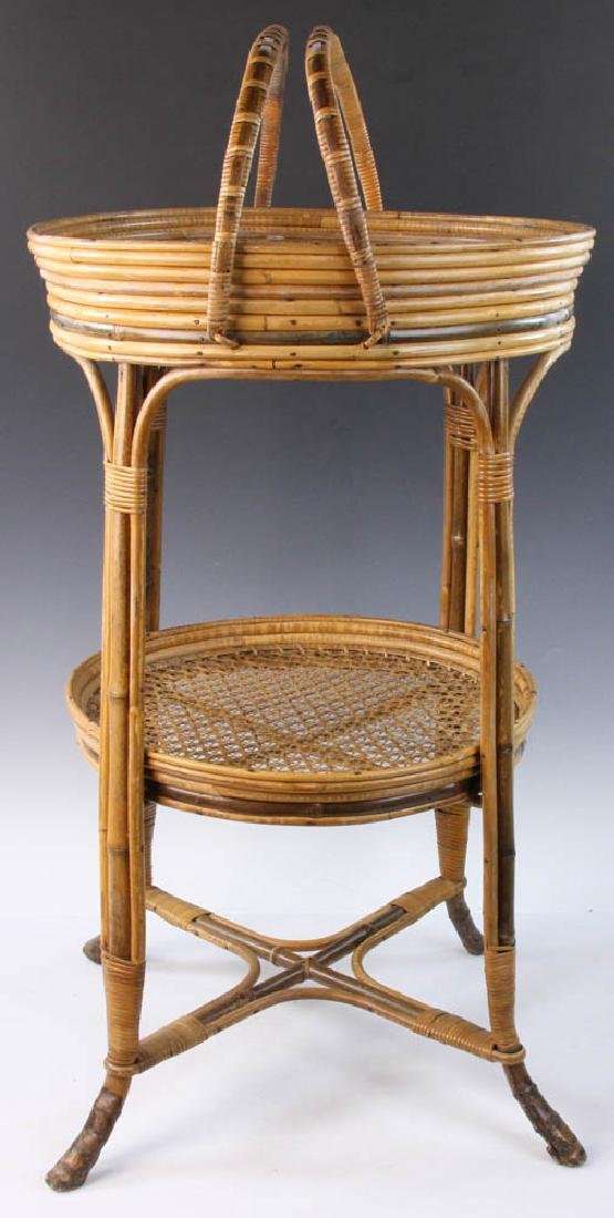 French Wicker Circular Stand - 2