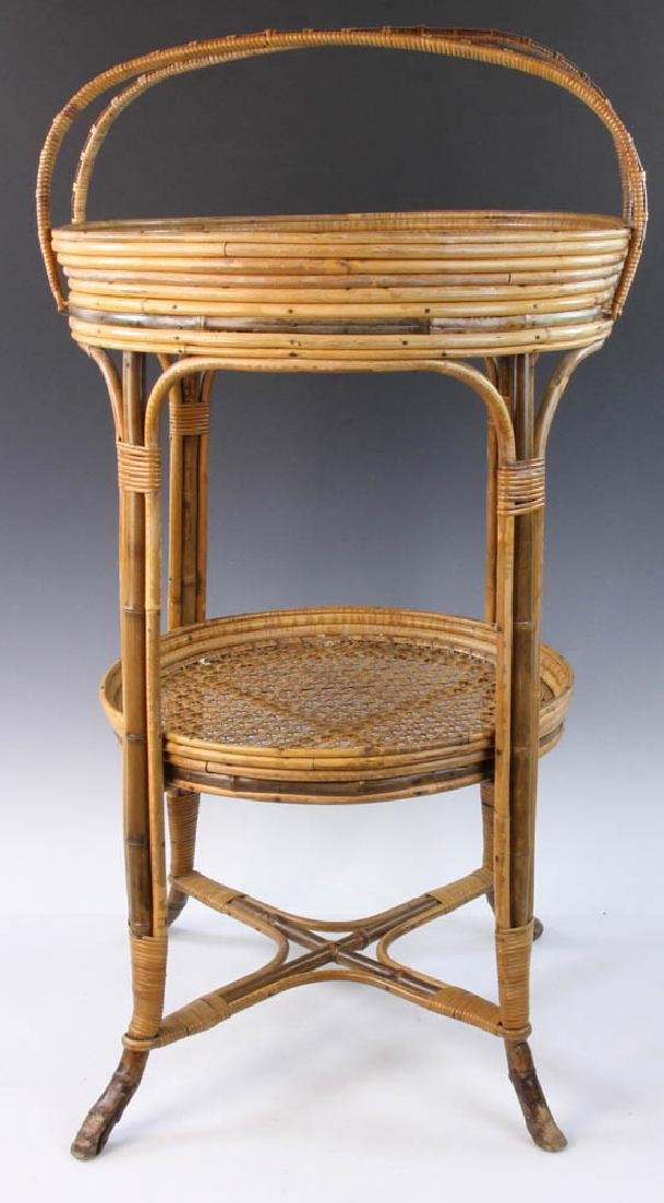 French Wicker Circular Stand - 3