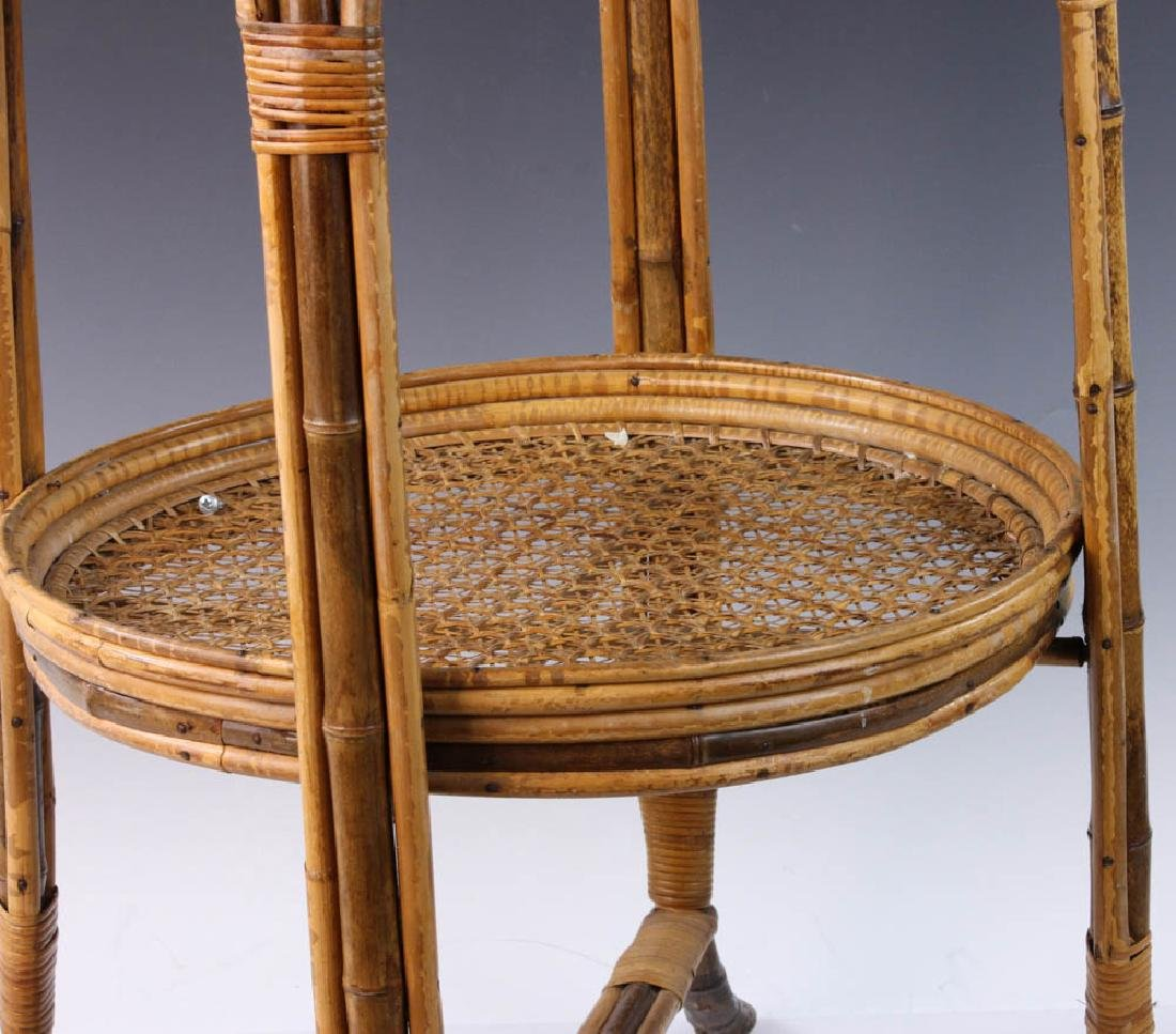 French Wicker Circular Stand - 6