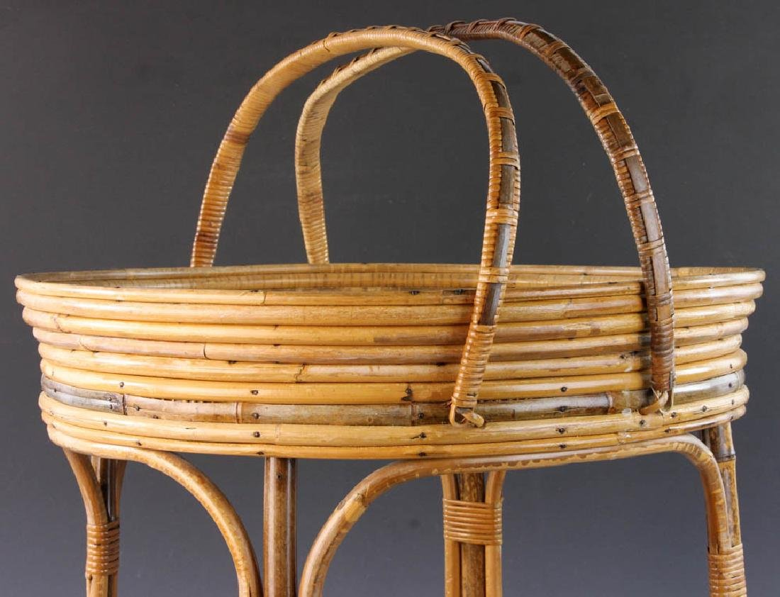 French Wicker Circular Stand - 7