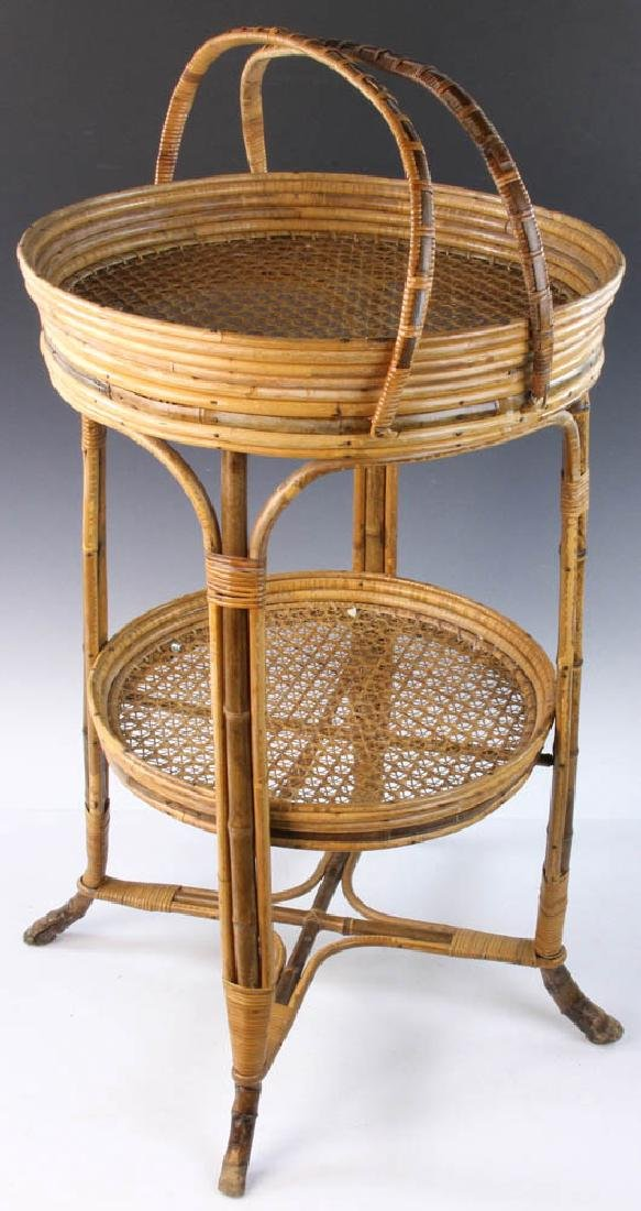 French Wicker Circular Stand - 8