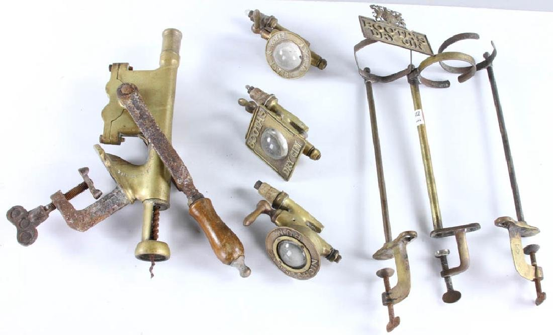 English Brass Bar Accessories