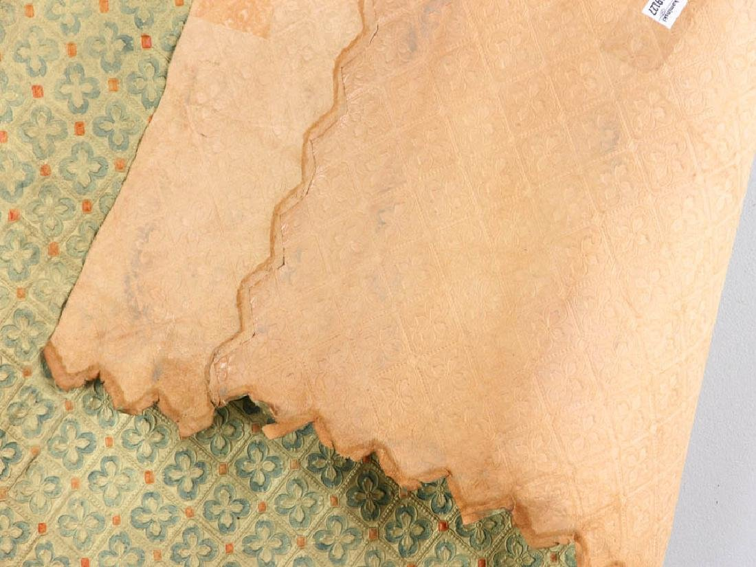 Tooled Painted Leather Wall Covering - 5