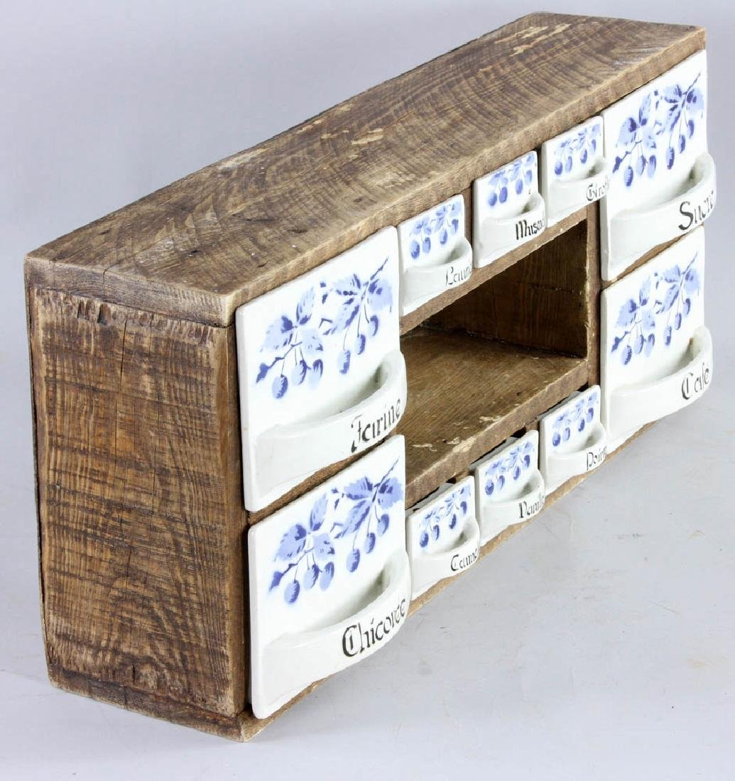 Late 19th C. French 10-drawer Spice Box - 3