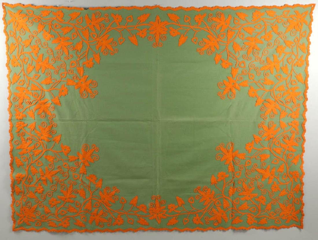Vintage Embroidered Coverlet