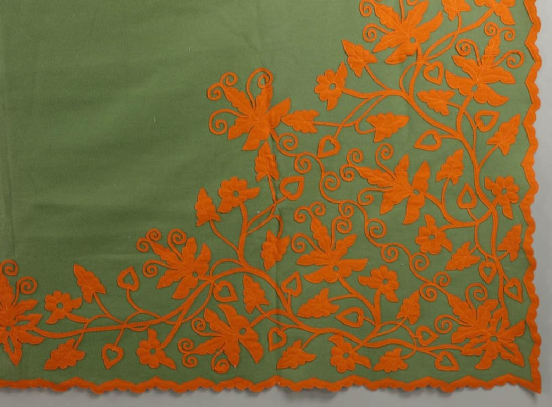 Vintage Embroidered Coverlet - 2
