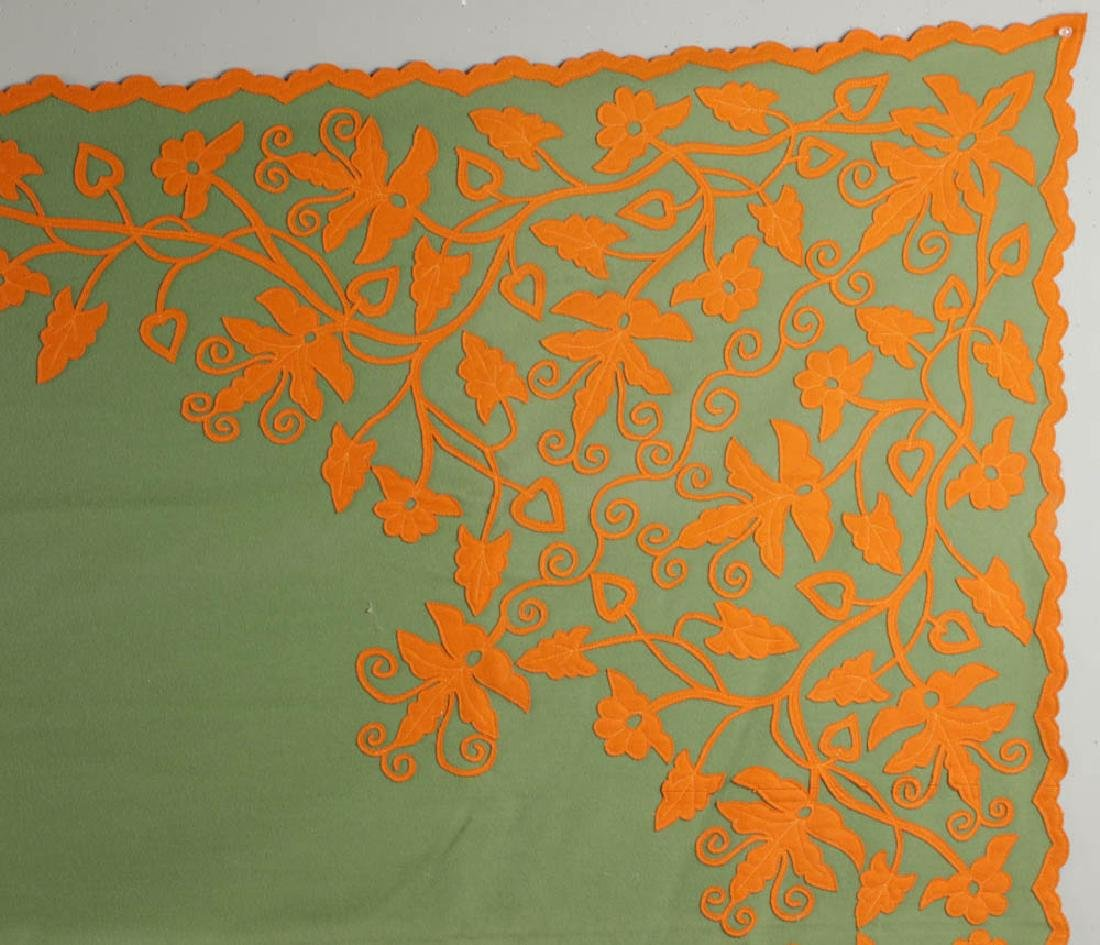 Vintage Embroidered Coverlet - 3