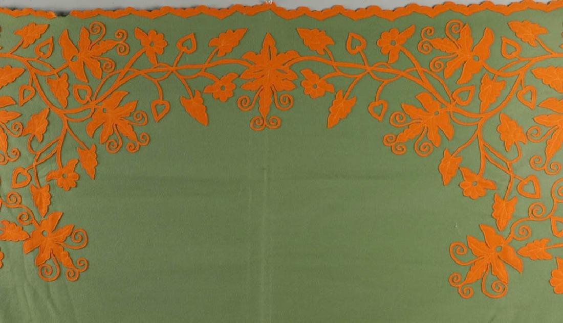 Vintage Embroidered Coverlet - 4