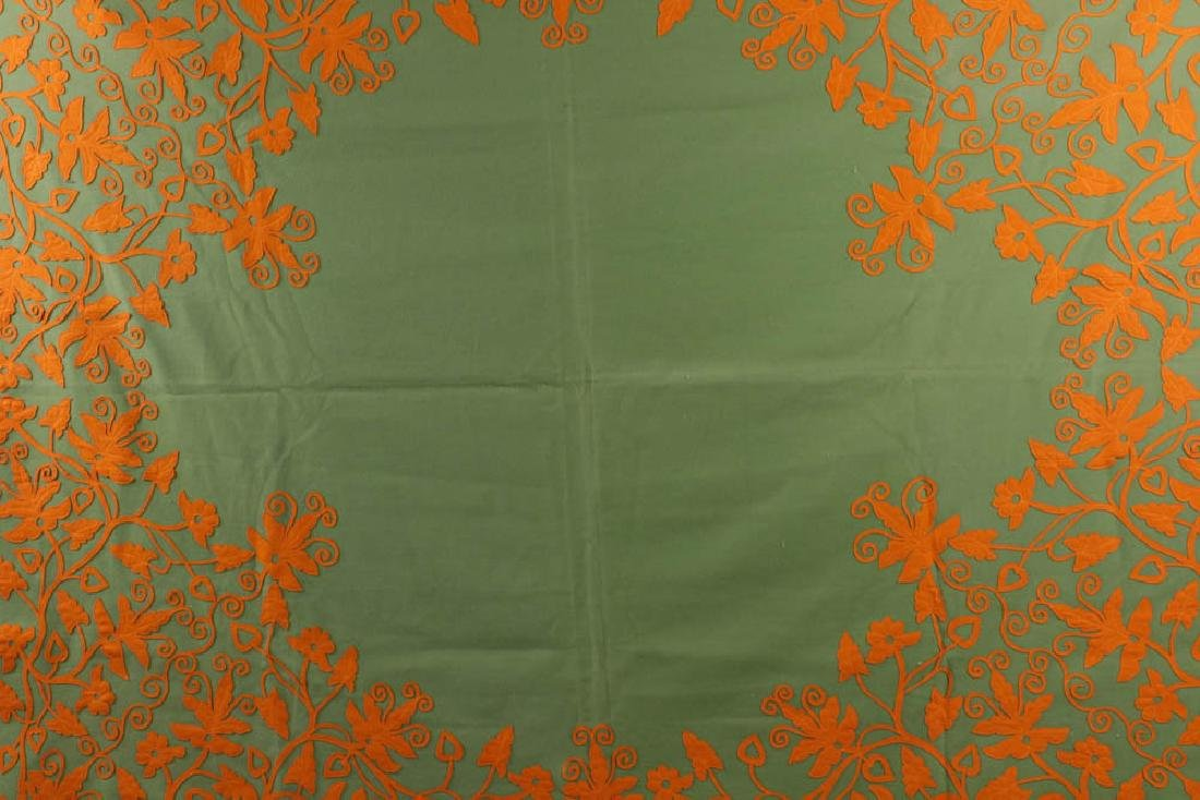 Vintage Embroidered Coverlet - 5