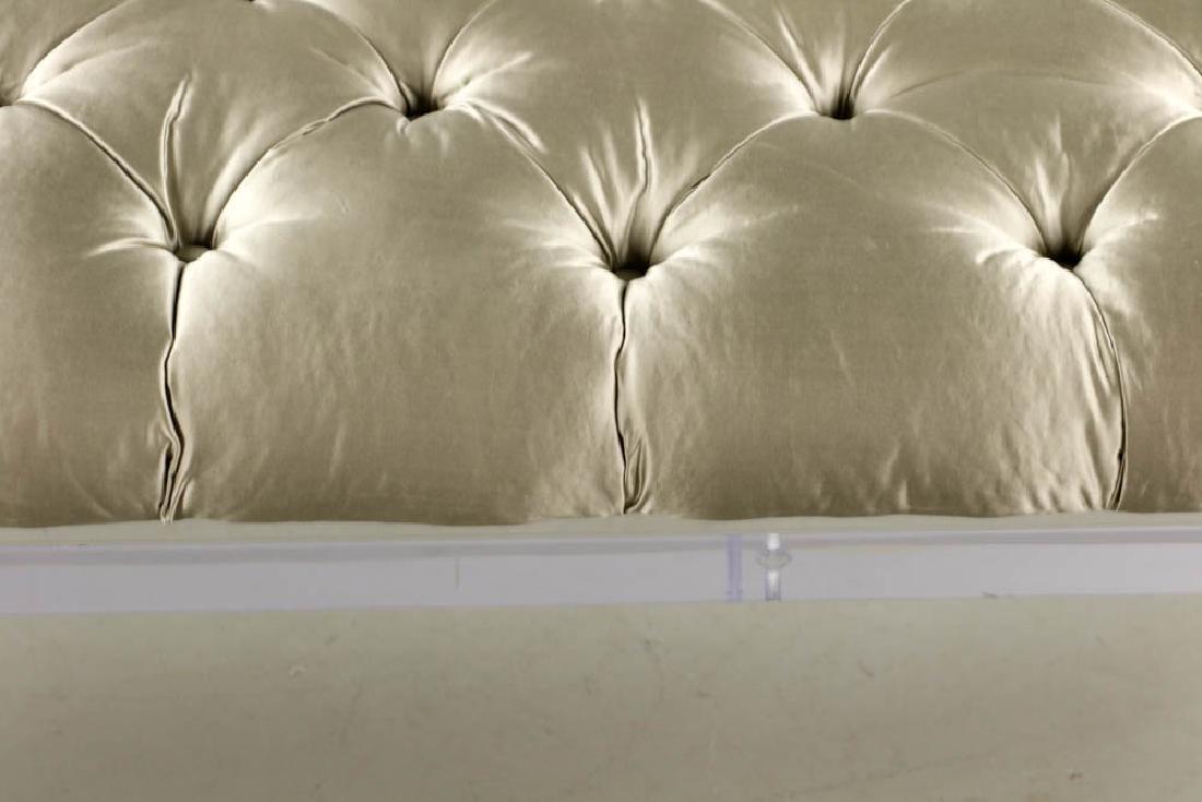 Modern Lucite Upholstered Bench - 4