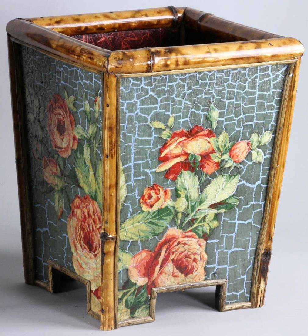 Lot of (3) Painted Waste Baskets - 4