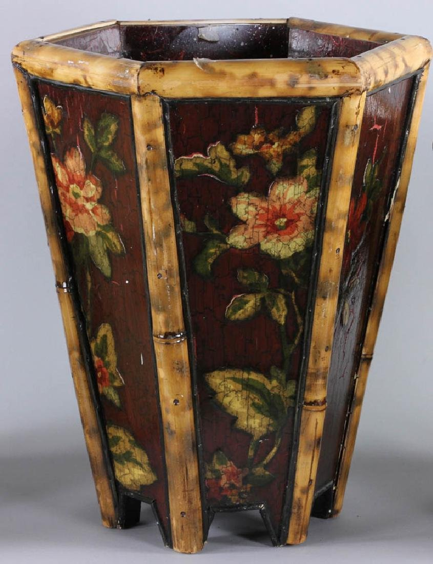 Lot of (3) Painted Waste Baskets - 6