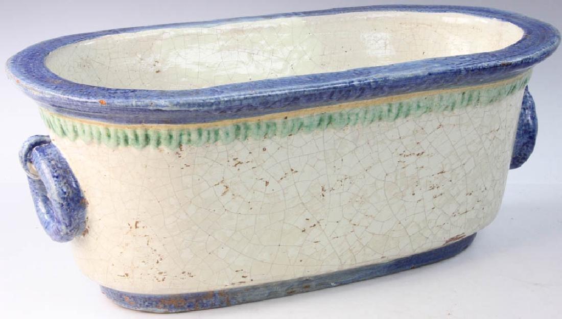 Italian Glazed Pottery Planter