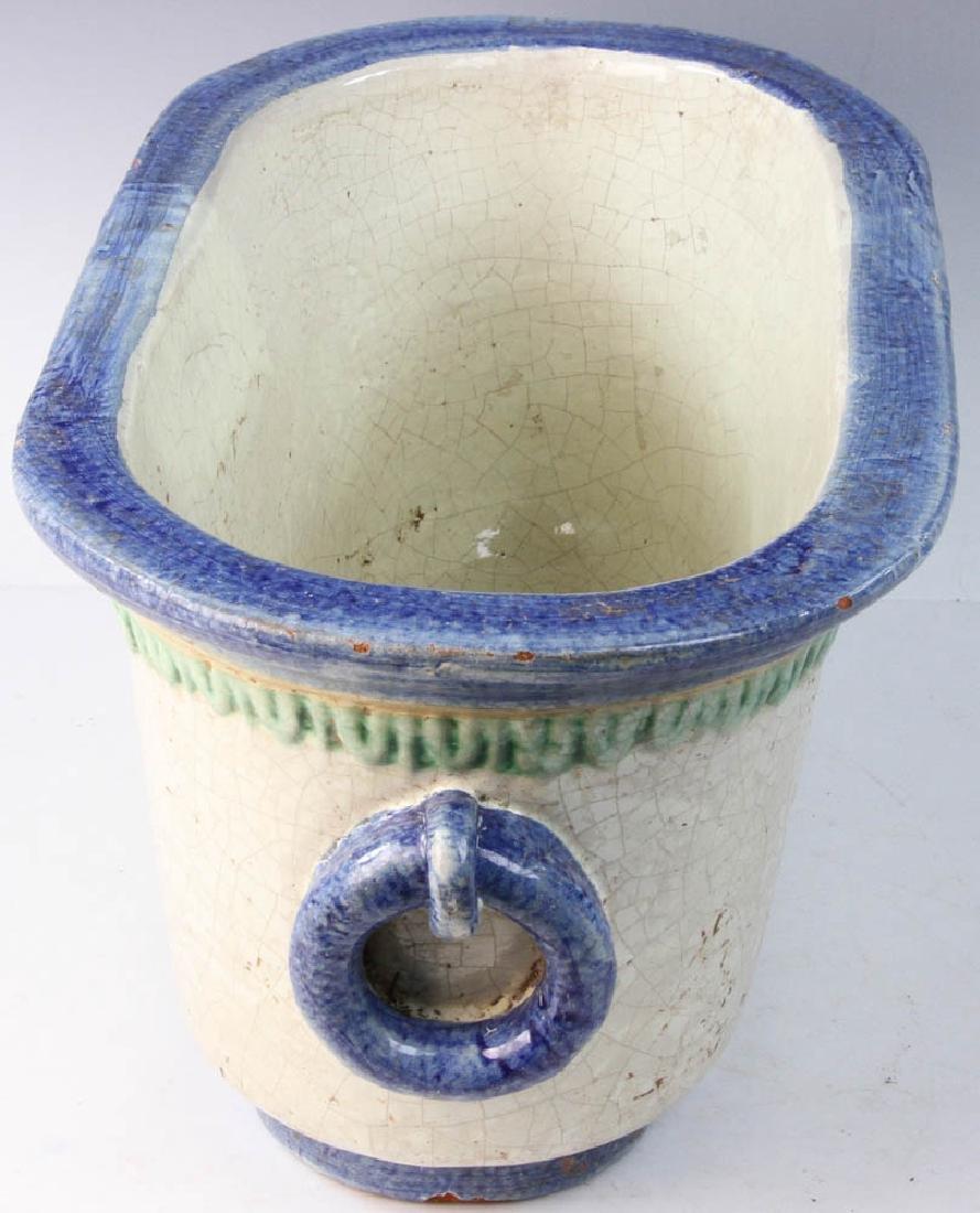 Italian Glazed Pottery Planter - 2