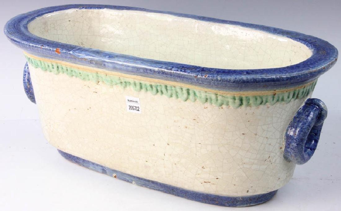 Italian Glazed Pottery Planter - 3