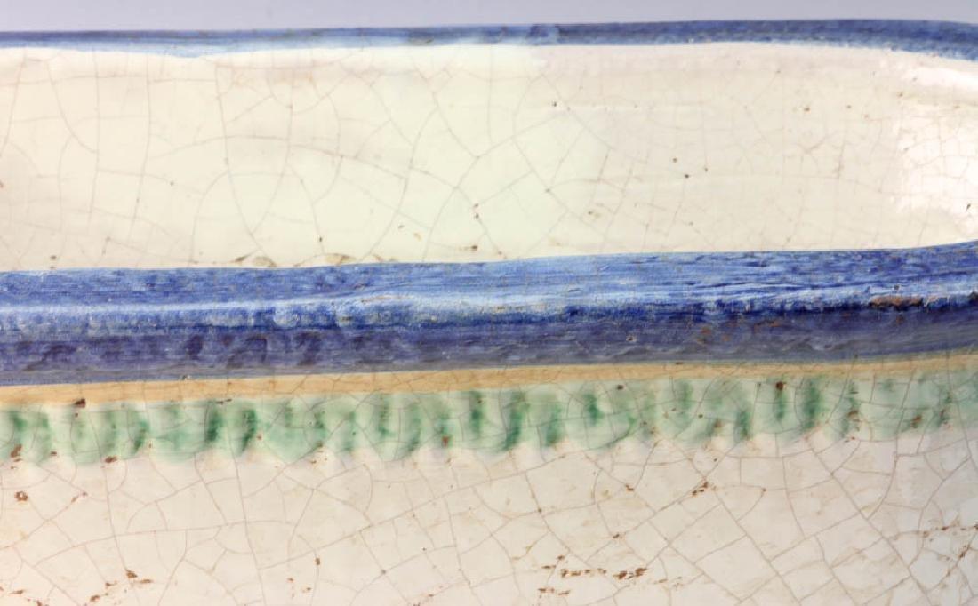 Italian Glazed Pottery Planter - 4