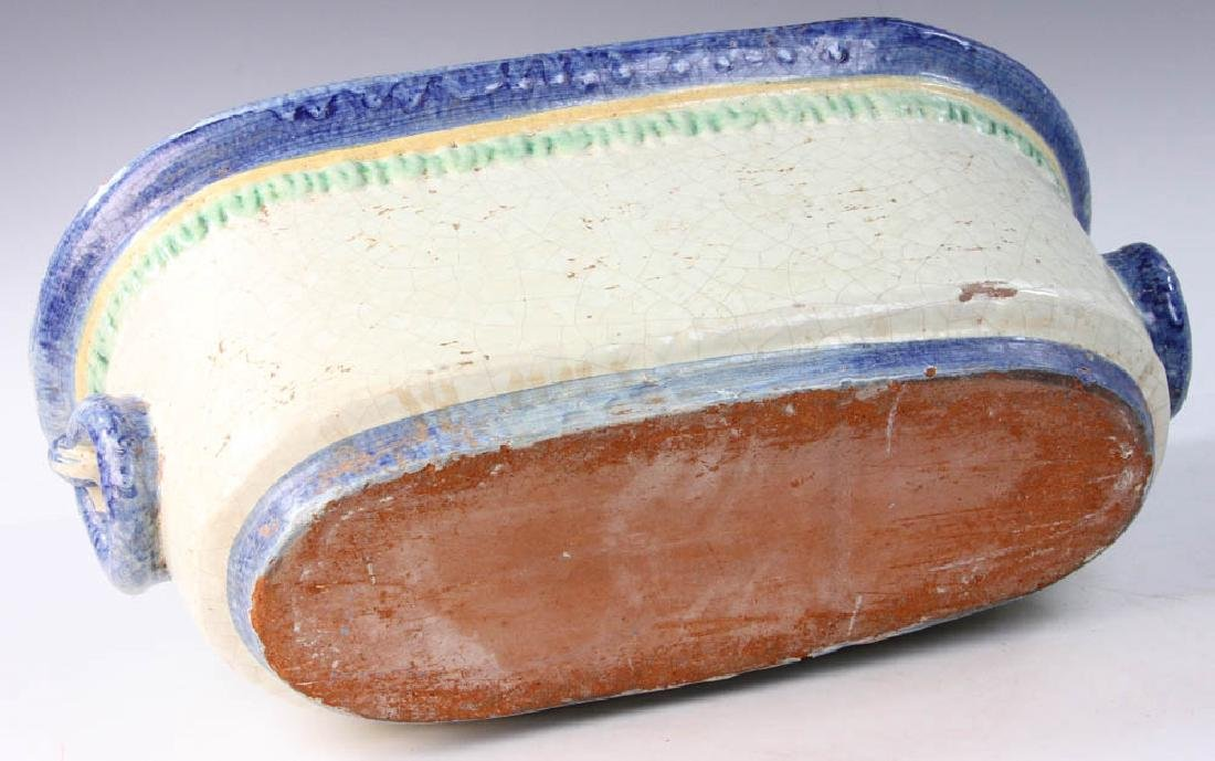 Italian Glazed Pottery Planter - 7