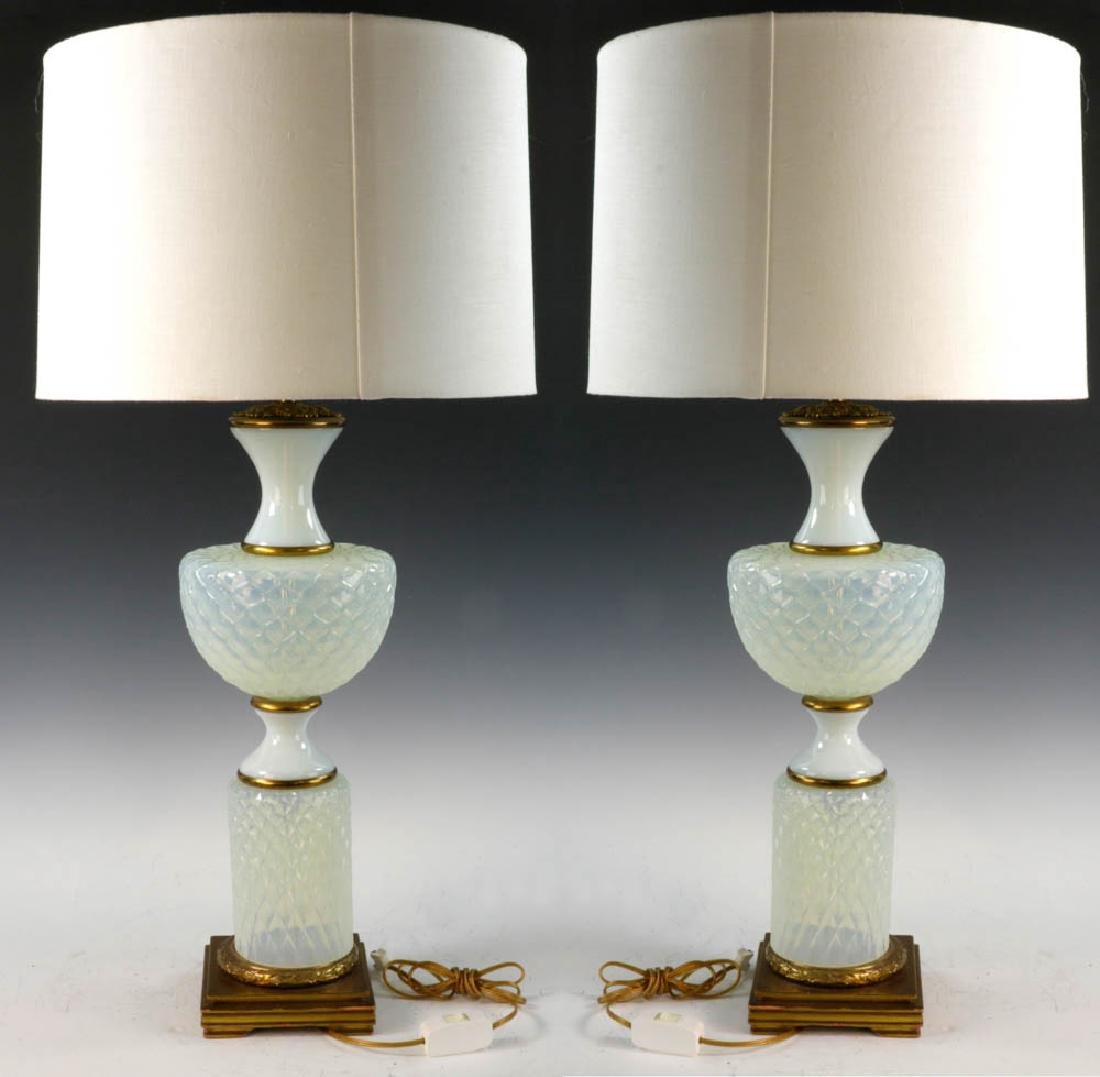 Pair of Italian Opalescent Lamps