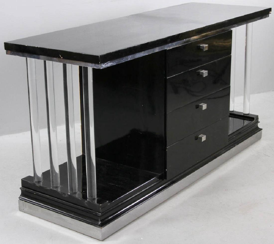 Ebonized Deco Four Drawer Chest - 2