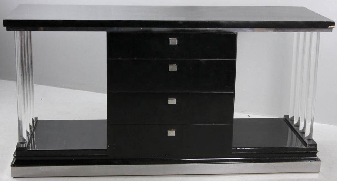 Ebonized Deco Four Drawer Chest - 4