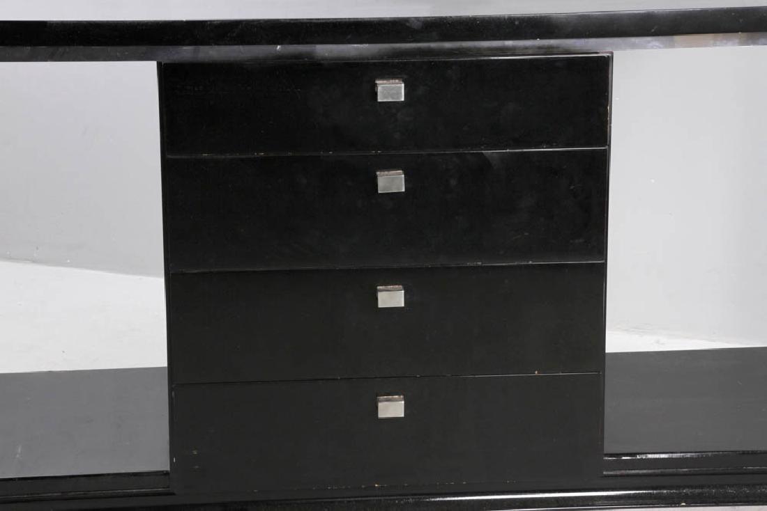 Ebonized Deco Four Drawer Chest - 6