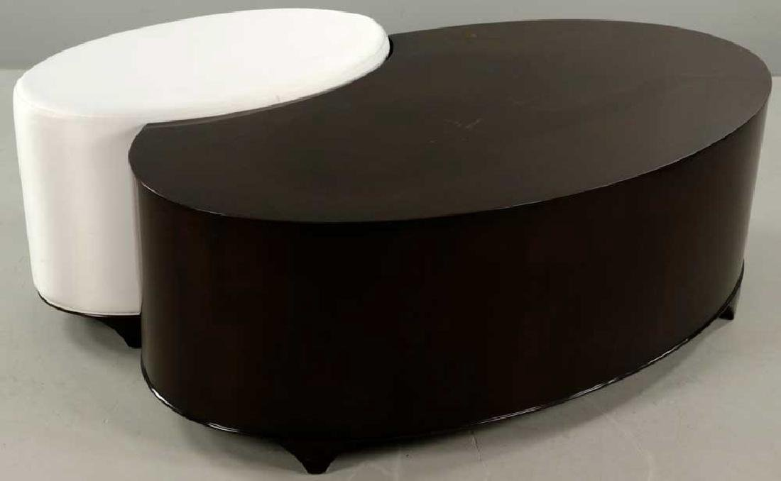 Christopher Guy Lacquered Table and Stool