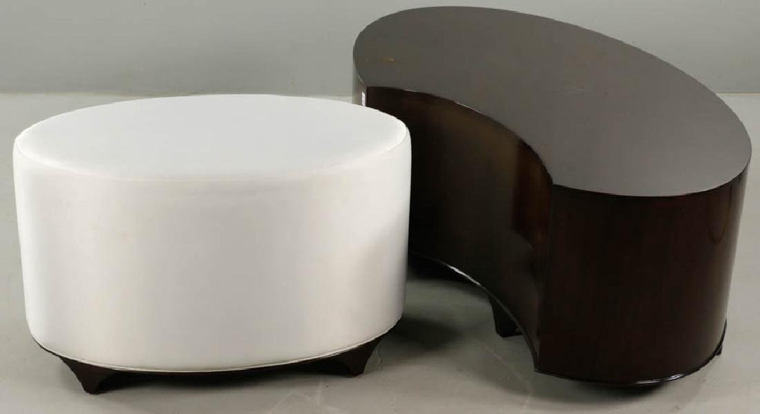 Christopher Guy Lacquered Table and Stool - 4