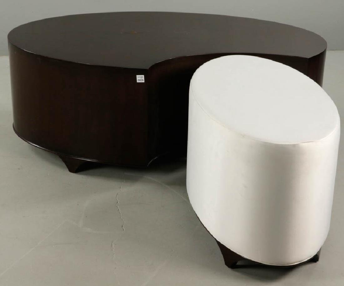 Christopher Guy Lacquered Table and Stool - 5