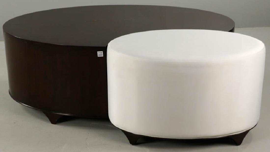 Christopher Guy Lacquered Table and Stool - 6