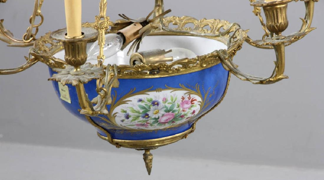 19th C. French Sevres Chandelier - 2