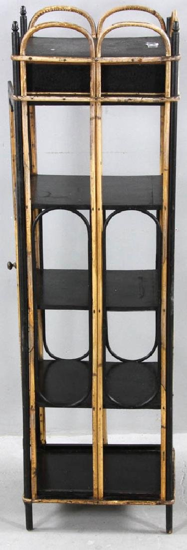 Late 19th C. Painted Rattan Cabinet - 5