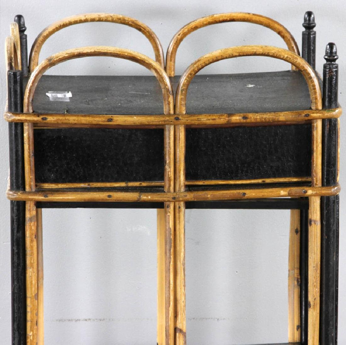 Late 19th C. Painted Rattan Cabinet - 7