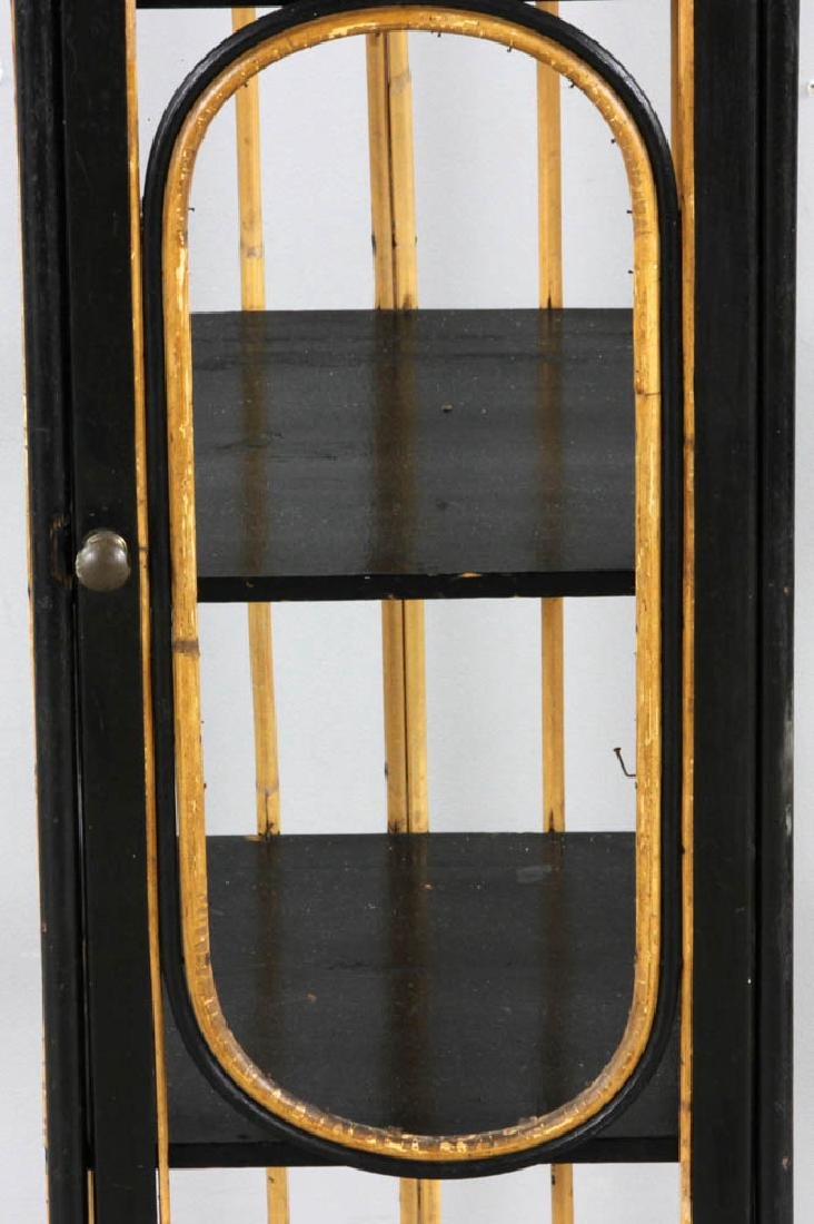 Late 19th C. Painted Rattan Cabinet - 9
