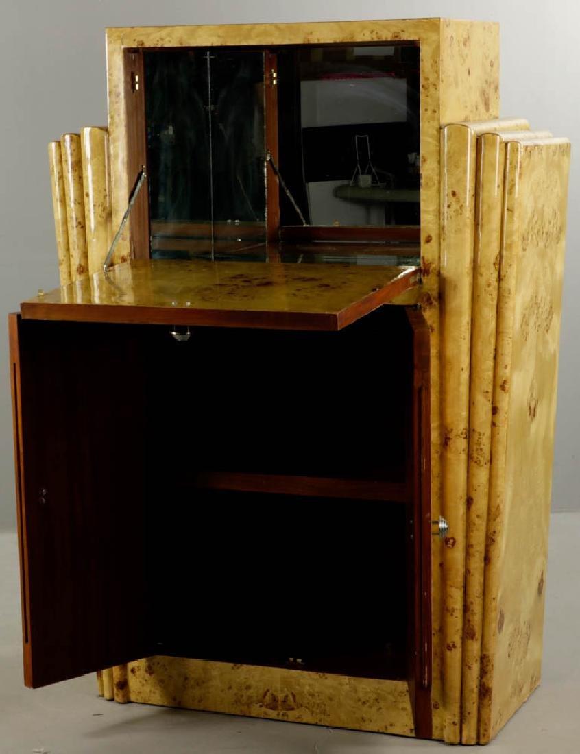 Deco Style Burlwood Desk - 2