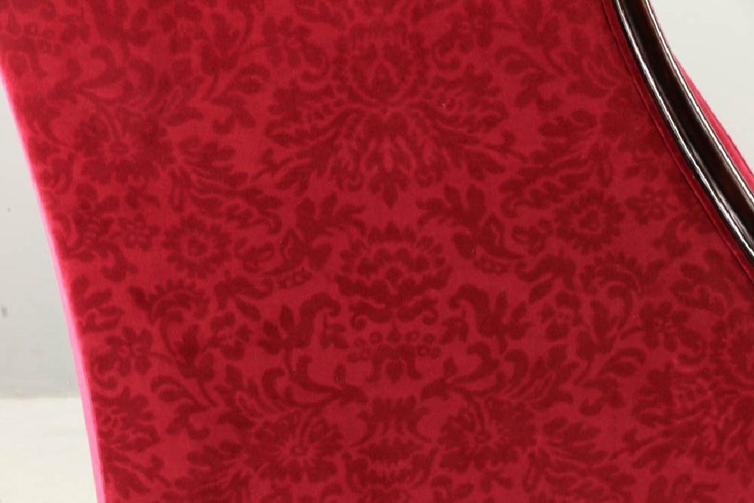 Contemporary Designer Velvet Wing Chair - 4